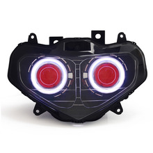 KT Headlight for Suzuki GSXR750 GSX-R750 2001-2003 LED Angel Eye Red Demon Eye Motorcycle HID Projector Assembly 2002