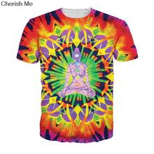 Harajuku Psychedelic Trippy Pattern Eye 3D Printed T-Shirt Leads To An All-Seeing Eye Vibrant Design Summer T Shirt Unisex Tops