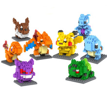LOZ Pikachu Mewtwo Gengar Bulbasaur Squirtle Building Blocks 3D Action Figure Kids Toys brinquedos juguetes Jouet enfant - Ming&Min Bro and Sis Store store