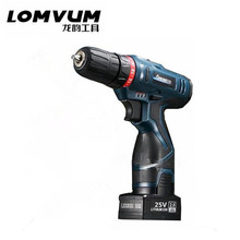 25V Two speed rechargeable lithium-ion battery Charging cordless drill electric screwdriver electric drill torque hand drill bit