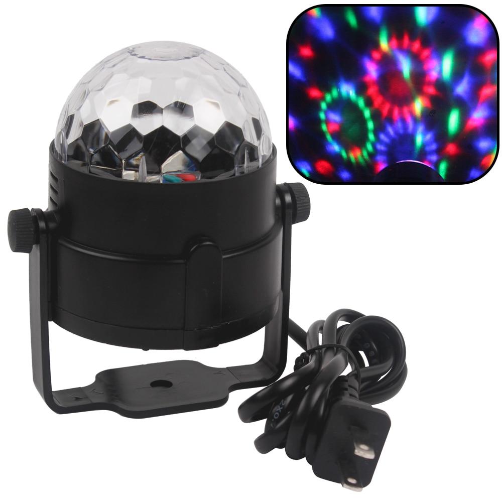 US EU Plug LED Crystal Magic Ball Light Mini Party Disco DJ Bar Bulb Lighting Show Commercial Lighting  Stage Lighting Effect<br><br>Aliexpress