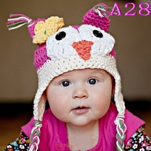 Free shipping baby Owl hat,Cute Monkey hat,crochet owl hat baby Photo Prop
