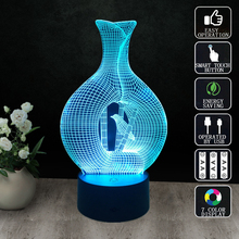 Abstraction six Night Light RGB Changeable Mood Lamp LED Light DC 5V USB Decorative Table Lamp Get a free remote control