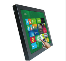 12 inch Metal Open Frame Touch Screen Monitor Industrial Saw touch screen pc, one year warranty industrial computer