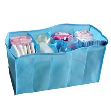 S-home HOT Baby Diaper Nappy Water Bottle Changing Divider Storage Organizer Bag Liner MAR4