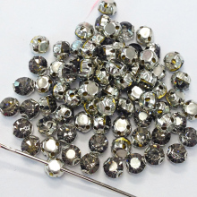 Sew On Crystal Rhinestones Shiny Glass Strass Black Diamond 100pcs/lot 3.8mm Crystal Stones DIY Gem decoration