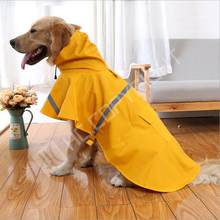 Pet Large Dogs Raincoat Outdoor walking Waterproof Rain Cover Water Protection Puppy Dog Clothes Yellow Jacket(China)