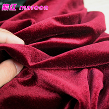 Maroon Silk Velvet Fabric  Velour Fabric  Pleuche Fabric  Clothing Fabric  Evening Wear  Sports wear  Sold By The Yard