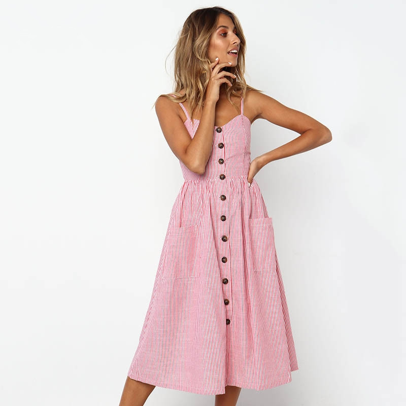Emizoe-2018-summer-striped-pockets-button-strap-dress-women-Long-casual-boho-beach-sexy-dress-vestidos