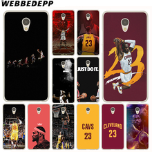 WEBBEDEPP Lebron James Case Meizu M6 M5 M5C M3 M2 Note M3s mini M5S U10 U20 Pro 6 7 Plus