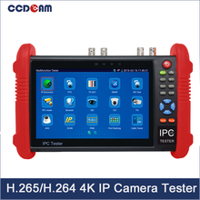 "7""IPS Touch H.265/H.264 4K IP+Analog+AHD+CVI+TVI+SDI CCTV Camera Tester (multimeter, cable locator,TDR,HDMI input Optional)(China)"