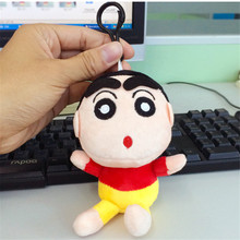 Japan Anime Naughty Crayon Shin Chan Peluche Plush Toys Pendant Super Cute Shin-chan Cartoon Stuffed Dolls 15cm 10pcs