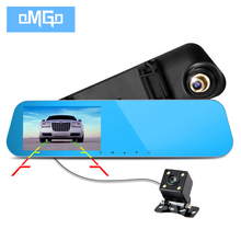 2017 full hd1080p night vision dash cam cars dvr car camera dual lens recorder video registrator rearview mirror auto dvrs