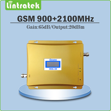 Mobile phone Amplifier 900Mhz 2100Mhz EDGE/ HSPA  Dual band Booster 3G GSM WCDMA UMTS Signal Repeater with LCD ALC