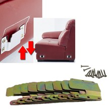 New 2 Pairs Mountain Shaped Sofa Sectional Furniture Connector Interlocking Style With 12 Screws Metal Iron Sheets