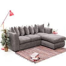 Corner Sofa Right and Left Chenille Fabric Sofa Set Washable Cover Living Room Furniture HOT SALE