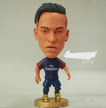 "Soccer Player Star 10# NEYMAR (PSG-2018) 2.5"" Toy Doll Figure New style"