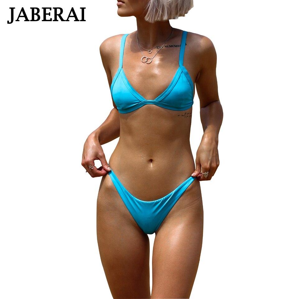 JABERAI Swimwear Women Brazilian Bikini Set 2017 Sexy Sky Blue Beachwear Padded Solid Bathing Suit Push Up Swimsuit QE006<br><br>Aliexpress