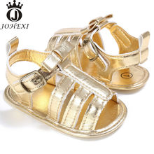 2017 Summer Fashion PU Flat with Girl Baby Sandals Newborn Baby Shoe Infant Toddler Breathable SoftPink/Black/Gold/Silver11-13cm