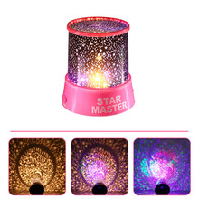 New Fashion Colorful Stars Sky Led Night Light Star Master Beauty Projector Night Light Lamp Sleep Help Bedroom Led Night Light(China)