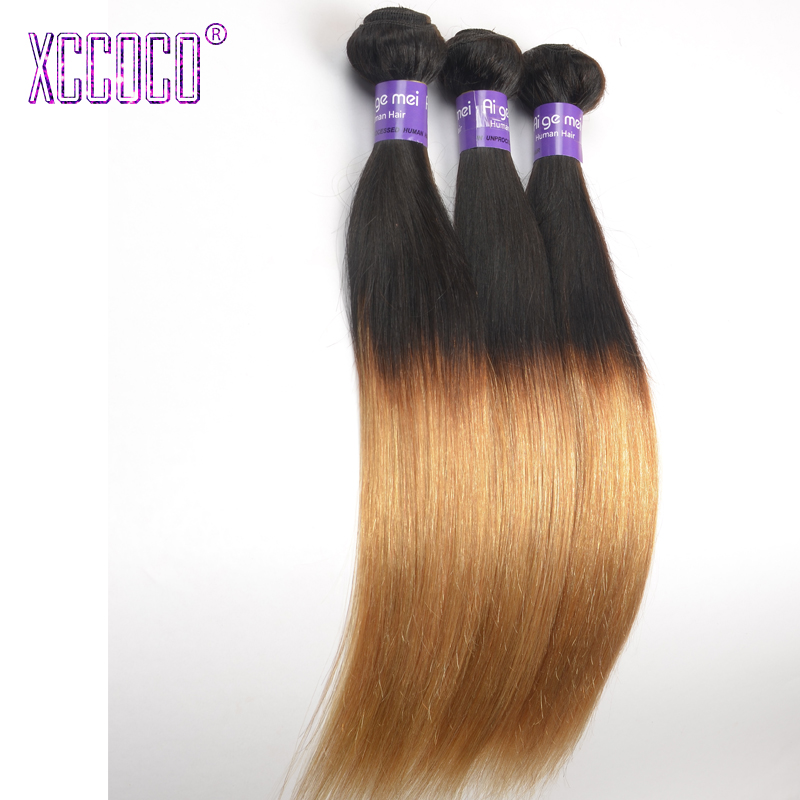 Grade 8A Rosa Virgin Ombre Malaysian Straight Hair Extensions 1b /27 Red Malaysian Hair Weave Bundles Ombre 2 Tone Straight Hair<br><br>Aliexpress