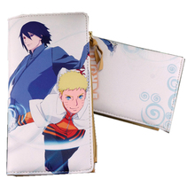 High Quality NARUTO Sasuke Uchiha Printing Unisex Long Wallet Anime Pu Leather Purse Harajuku Purse with Zipper Coin Bag
