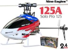 Nine Eagles SOLO PRO 125 6CH Mini Flybarless 3D Helicopter with J6 PRO Radio(China)