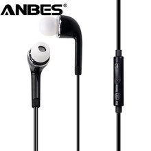 Wired 3.5mm Jack Earphone In-ear Headphones Microphone Earbuds Noise Cancelling Music Headset for All Phone for MP3/MP4 Players