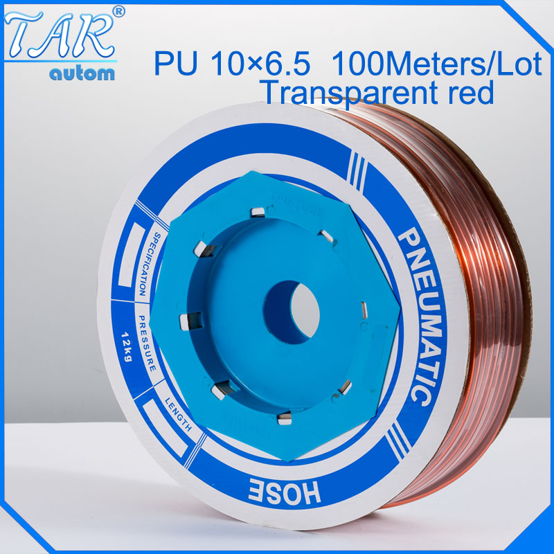 100m/piece High Quality Pneumatic Hose PU Tube OD 10MM ID 6.5MM Plastic Flexible Pipe PU10*6.5 Polyurethane Tubing golden<br>