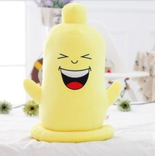 Buy Free Shipping Creative Expression Spoof Condom Doll Pillow Doll Birthday Gift Men Women Plush Toys Christmas gift