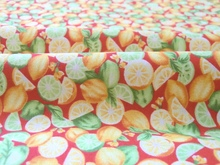 New Brand Design Orange & Green Lemon 100% cotton twill handwork home decor quilting patchwork DIY chic fabric(China)