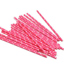 25Pcs Pink Star Parrten Stripe Paper Straws Drinking Bar Tools Party Wedding Celebration Prom Supplies