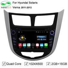 Quad Core 1024X600 Android 5.1.1 PC 2 Din Car DVD Player For Hyundai Solaris Accent Verna i25 With GPS TV 4G WiFi Free Map