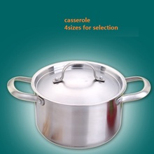 Soup pots casserole high quality SS#304 stainless steel soup pot thickening big cookware general no coating