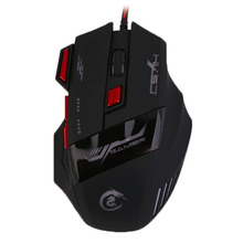 H100 Professional Gaming Devices Adjustable 5500DPI Wired Gaming Mouse 7 Buttons Luminescence Computer Mouse(China)