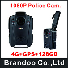4G+GPS+128GB Vision Full HD 130 Degree View Angle Body Worn Camera For Police