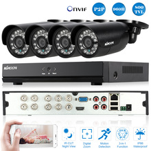 KKmoon 8CH CCTV HDMI DVR Kit 800TVL Outdoor Security Camera System 960H D1 DVR 4pcs IR Waterproof Camera CCTV System Euro Stock(China)
