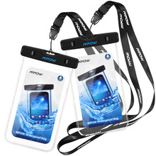 2pcs Mpow Universal IPX8 Waterproof Pouch mobile phone Bag Hiking Surfing Ski Snowproof bag for iPhone 6S Plus Android Xiaomi(China)