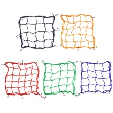 Car Motorcycle Luggage Net Storage Bag Helmet Rope Motor Net Twine Blue Yellow Red Black Green Motorycle Net Bags Mesh