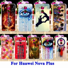 Hard PC Cell Phone Cases For Huawei Nova Plus G9 G9 Plus Maimang 5 5.5 Housing Covers DreamCatcher Telephone Booth Letters Hood