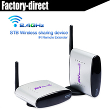 2.4G wireless AV extender transmitter receiver with IR&power adapter(support 1 to many) for HDTV,STB,DVD(China)