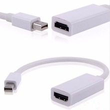 Full HD Mini Displayport to HDMI Adapter Cable Thunderbolt DP Converter 1080P For MacBook Pro Air Mac For PowerBook Adaptor 20CM(China)