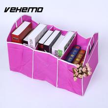 Vehemo 3 Color Truck Car Trunk Cargo Organizer Collapsible Bag Black Pocket Box