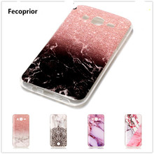 Fecoprior J500 Soft TPU Silicon Phone Case For Samsung Galaxy J5 2015 Back Cover Ocean Marble Full Protection Celulars Fundas(China)