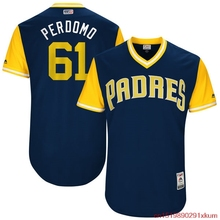 "MLB Men's San Diego Padres Luis Perdomo ""Perdomo"" 61 Baseball Navy 2017 Players Weekend Authentic Jersey(China)"