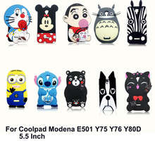 "Kumamon Bear Stitch Cat Dog Zebra Totoro 3D Cartoon Phone Case for Coolpad Modena E501 Y75 Y76 Y80D 5.5"" Soft Silicone Cover(China)"