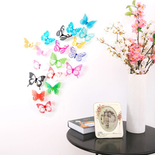 Buy 1set 3D DIY Butterflies Wall Stickers Home Decor Poster Kitchen Bathroom Fridge Adhesive Wall Decals Decoration Wallpaper for $1.19 in AliExpress store