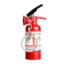Mini Fire Extinguisher Shaped Butane Jet Lighter For Cigar Cigarette With LED Flashlight Refillable NO GAS(China)
