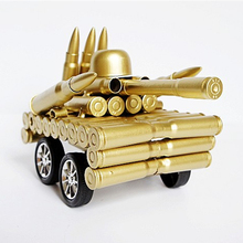 Model Tanks Miniatures Military Vehicles Handmade Simulation Bullet Shell Crafts Home Office Decoration Birthday Gift for Kids(China)