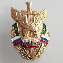 Russian Plated Gold Medals Aluminum Border Army Commando Badge Honor Medals Cockade Badge